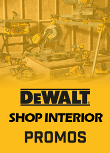 DEWALT Brand SHOP INTERIOR